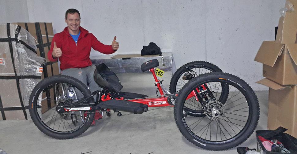 Garaža Primož Jeralič Explorer III Off-road Handycycle