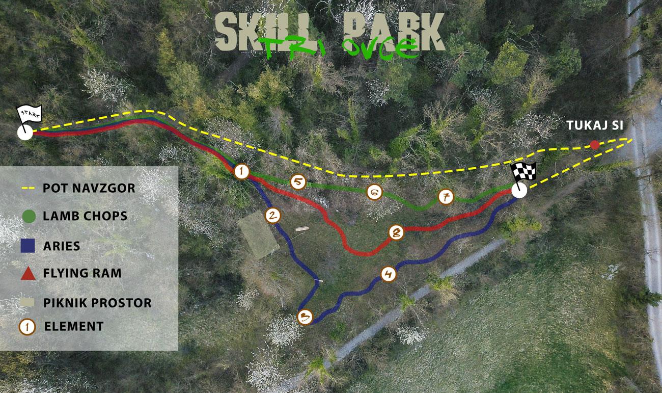 Skill park Tri ovce, Vrhnika