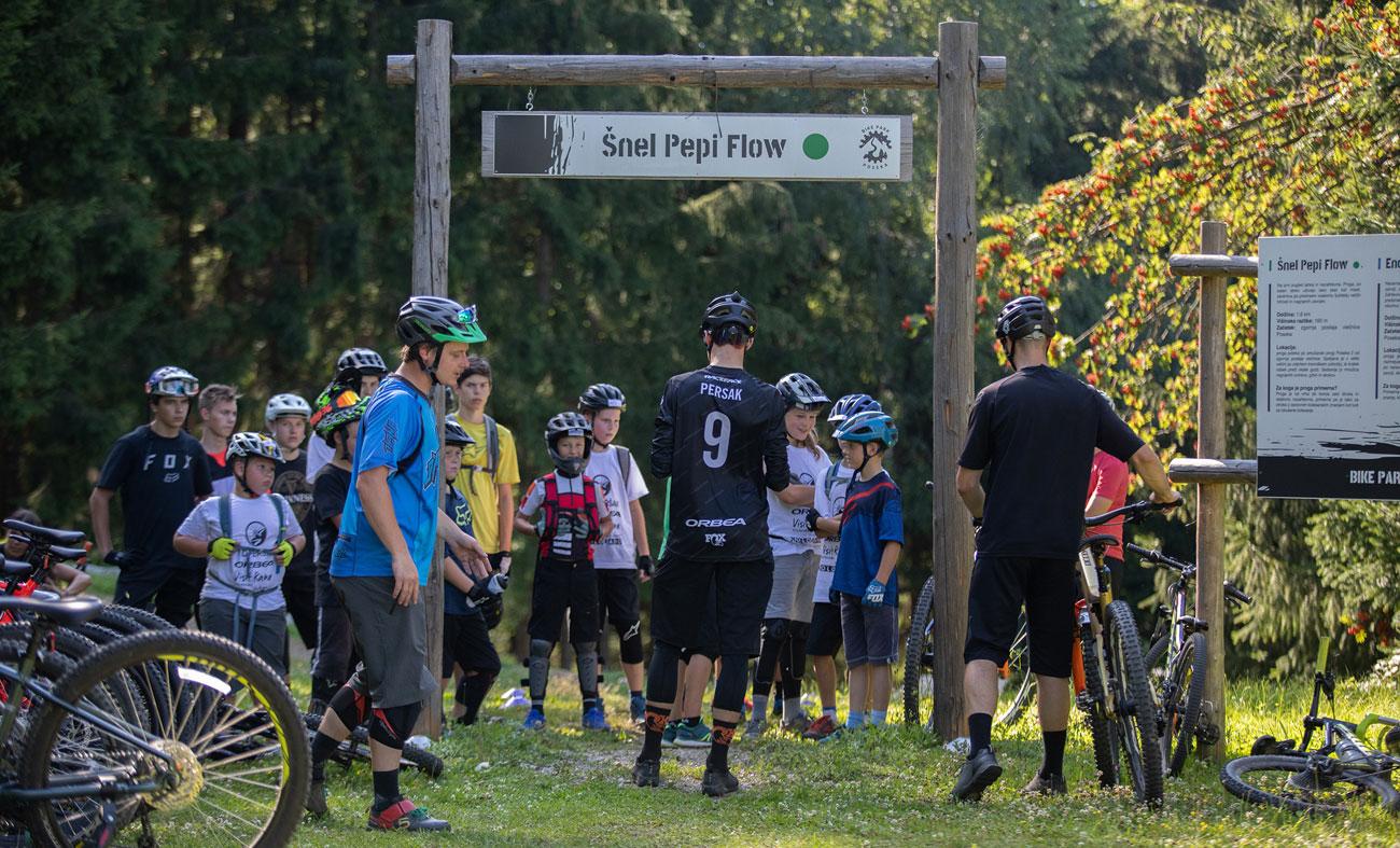Kolesarski kamp Vida Peršaka, bike park Poseka