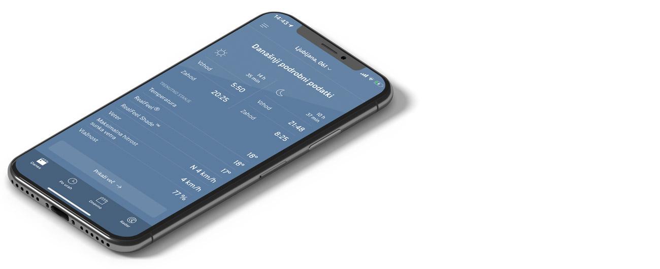 AccuWeather - mobilne aplikacije za gorske kolesarje