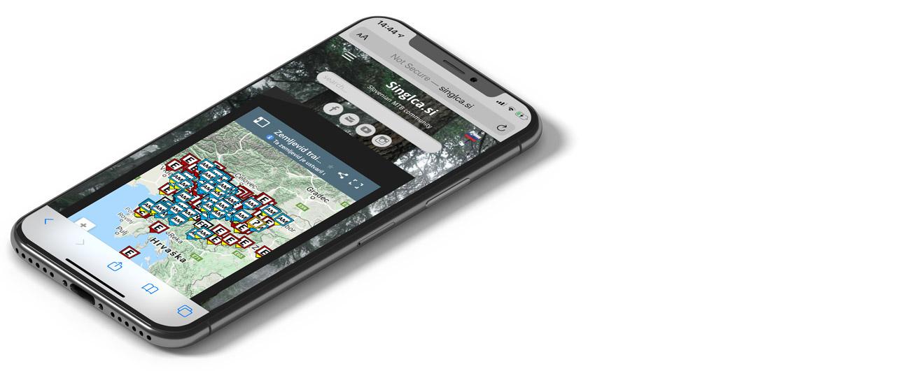Singlca.si - mobilne aplikacije za gorske kolesarje