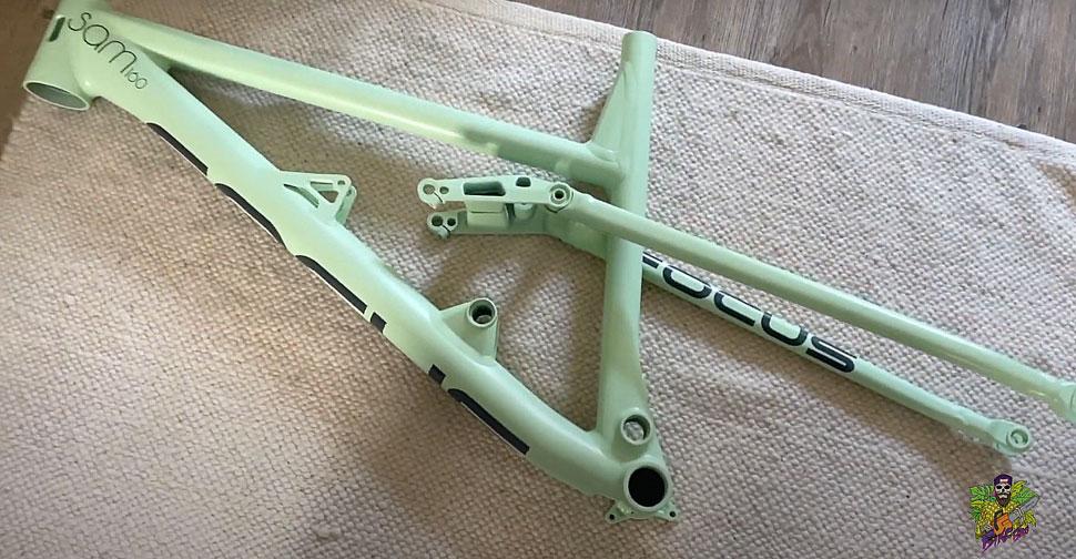 BikeBro, barvanje okvirja