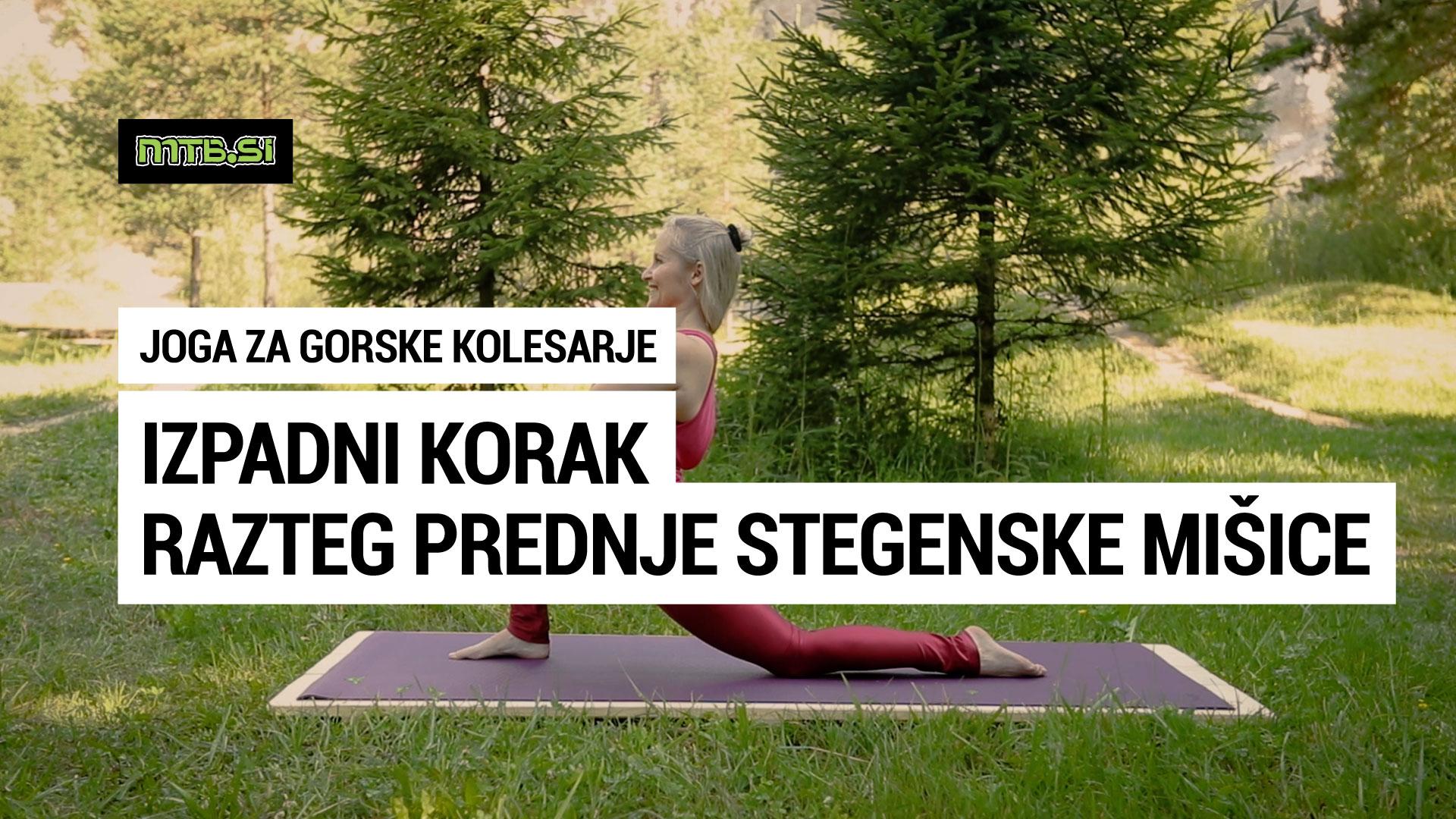 Izpadni korak - joga za gorske kolesarje