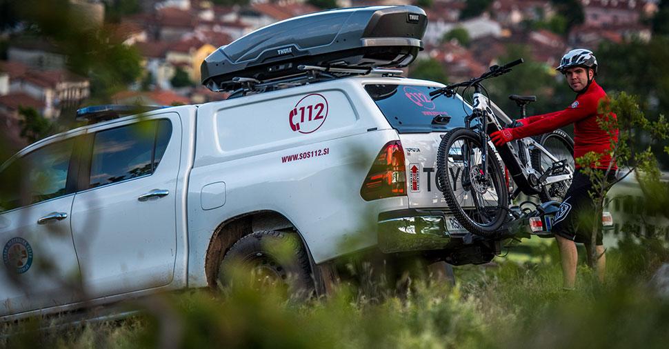 gorska reševalna služba na e-kolesih
