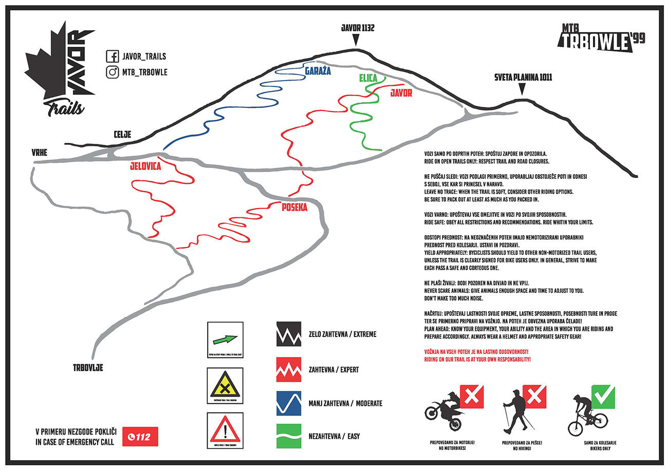 Javor trails, Trbovlje